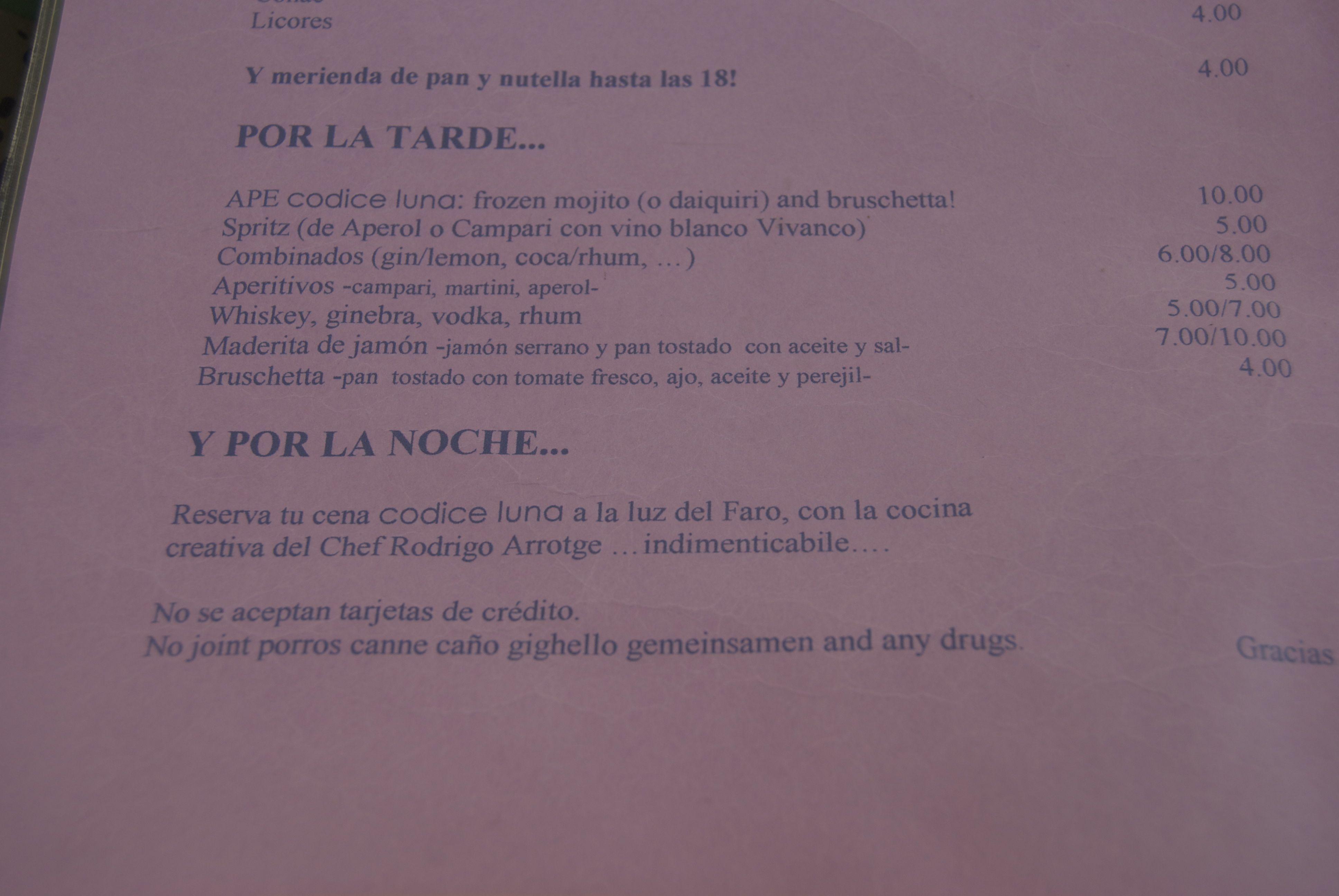 Carta del Codice Luna (Formentera)