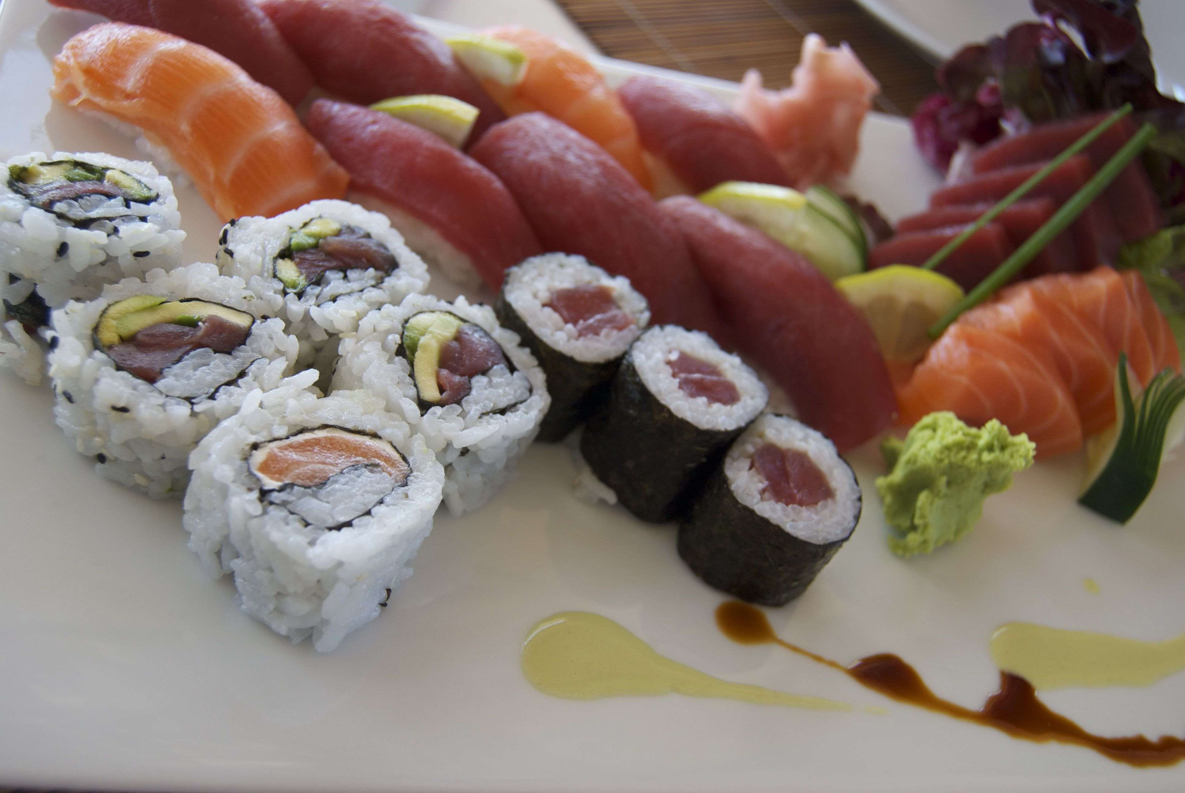 Sushi en Formentera (Restaurante Café Patrizia Pepe)